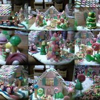My First Gingerbread House  this is my first gingerbread house. i got one of the wonka kits 75% after xmas, and since i just wanted to decorate one, i gave it a shot....