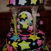 Kylie's Sweet Sixteen Cake Topper a close up of the cake topper (or middle)