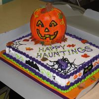 Halloween Party Cake The first cake I have done in a few months due to an intensive move. I had to unpack and hunt down all my stuff to get this out on time. It...