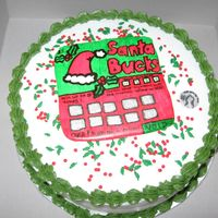 Scratch Ticket Cake  This was made for a friend who loves scratch tickets. It is a chocolate cake, all buttercream with candy sprinkles and a colorflow scratch...