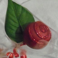 Rose Cake Pop rose cake pop (leaf is fake)