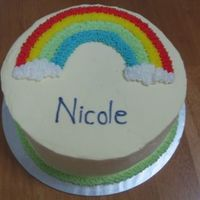 Wilton Course 1 Rainbow Cake