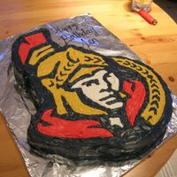 Ottawa Senators Cake Made this for a friends of mine, she is a huge Sens fan. She loved it!