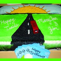 Happy Trails! Retirement Party Cake Retirement Party Cake - all BC