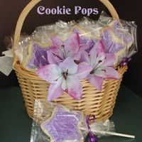 Cookie Pops Sugar cookie pop favors for a child's b-day party. They matched the theme of the b-day cake.
