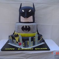 Batman This cake was made by my dear friend Gayle and I for her husband's 40th birthday...he has always been wild about batman!