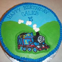 Thomas The Train Birthday Cake FBCT - Thank you Merissa for your help and inspiration. This was a toughie - too many dark colors for me!