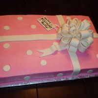 Gift Box Birthday Cake This was for a teenage girl. BC with fondant bow and ribbon.