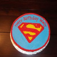 Superman All BC - superman cake for my father in law.