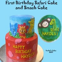 Safari 1St Birthday Cake theme is based on the partyware provided by customer. TFL