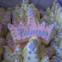 Princess Crown Cookies simple design, with dragee accents. TFL