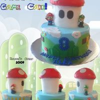 Super Mario Cake tried to combine all the views into one photo so you could see all the way around the cake. TFL!