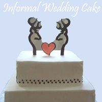 "Love Deer small informal cake, with piped chocolate ""browning logo"" deer for a couple who are just a little bit country. :-) TFL"
