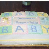 Baby Shower Blanket This was a cake for 2 expecting mothers having one baby shower.
