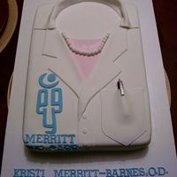 Lab Coat Made for an optometrist who was opening her own clinic. All fondant