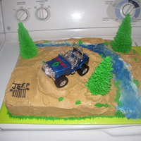 Jeep Cake   This was a Jeep cake I did for my husband's birthday.