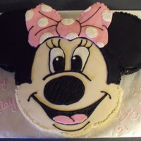 Minnie Mouse Cake Thanks for looking! This was for a friends son. Carved 3 round cakes into shape
