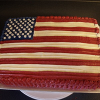 Flag Cake Thanks for looking. Really simple last minute Memorial Day cake.