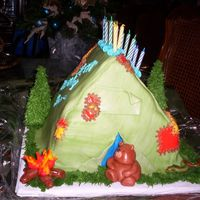 Camping Cake   MM fondant and BC