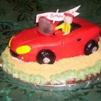 Car Cake Car Cake with BC and fondant