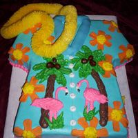 Tropic Shirt   BC with fondant flowers