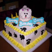 Puppy Cake   Cupcake Puppy and cookie bones