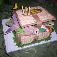 Fishing Basket B/C Fishing Basket with fondant Fish