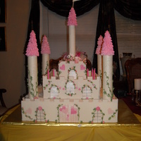 Castle Cake   Birthday cake for my niece. Bottom is a dummy.