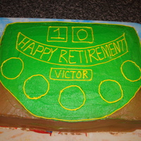 My Boss's Retirement Cake This is before I put on the rest of the decorations.