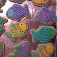 Fantasy Fish   'Rainbow Trout' for Father's Day. NFSC with Royal Icing.