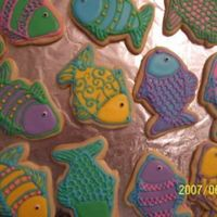 Fantasy Fish Fun 'Rainbow Trout' for Father's Day. NFSC with Royal icing.