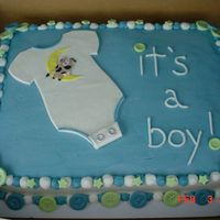 Baby Boy Thanks for the help on this cake my fellow cake friends. They loved it all. I got an order the same day for one done in pink...