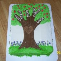 Family Tree Cake Cake made for our grandparent's combined Mother's day/ Father's day celebration. Each branch represented a child (6), each...