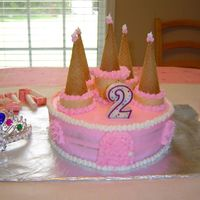 Pink Princess Castle This was the first 2 layer cake I made for my daughter's 2nd birthday. I did the out edge a little too thin but other than that I...