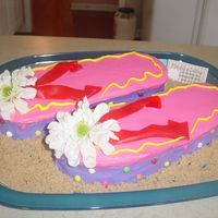 Fun Flip Flop Cake This idea came from a little Betty Crocker dessert idea book. I think it turned out really cute! I made it for a silent auction to raise...