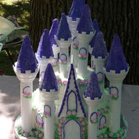 Purple Castle I made this for my friend's daughters 3rd birthday. Just the Wilton Castle kit. I made the flowers in advance using RI instead of...