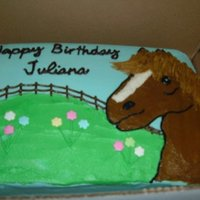 Horse Cake I made this for a 4th birthday party. My friends daughter wanted a horse cake. All buttercream. Thanks to a CC member (sorry can't...