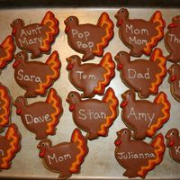 Thanksgiving Placecard Cookies