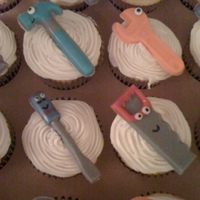 Handy Manny Cupcakes I made these for my friends son's birthday. Tools are chocolate