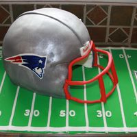 Patriots Helmet Cake I made this last summer for my husband's 30th birthday. Thank you so much to ladyonzlake for all of her help (sorry it's taken so...