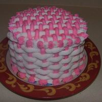 Pink Basket Weave This was a cake i just made for desert tonight