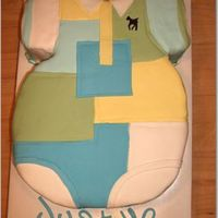 Rl Polo Onesie This was made to look like one of RL Polo onesies. Quite difficult cake to make.