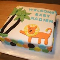 King Of The Jungle Baby Shower All fondant, made to match the theme.