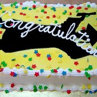 Graduation Silouette Sheet Cake