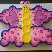 Butterfly Cupcake Cake Butterfly shaped cupcake cake based on one of Brenda's beautiful CCCs www.brenscakes.com