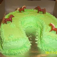 Field Of Horses Birthday cake made for a co-worker who loves horses and volunteers at a theraputic riding stable. Until I get a little better at writing...