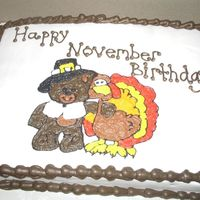 November Birthdays   Picture done with piping gel and then filled in. Made this for my mom's co-workers.