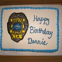Police Cake FBCT of father-in-law's police badge.
