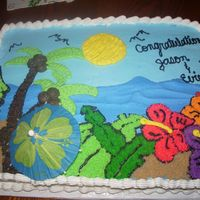 Luau   Thanks gmcakes for allowing me to use your design. I'm very pleased with how this cake turned out!