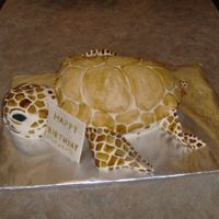 Sea Turtle Cake white cake with vanilla BC filling, covered with findant. thanks for looking ! :)